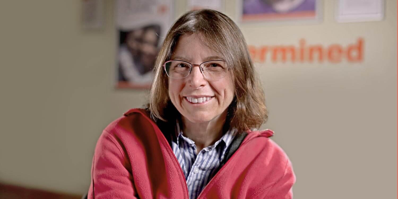 Wendy smiling at camera