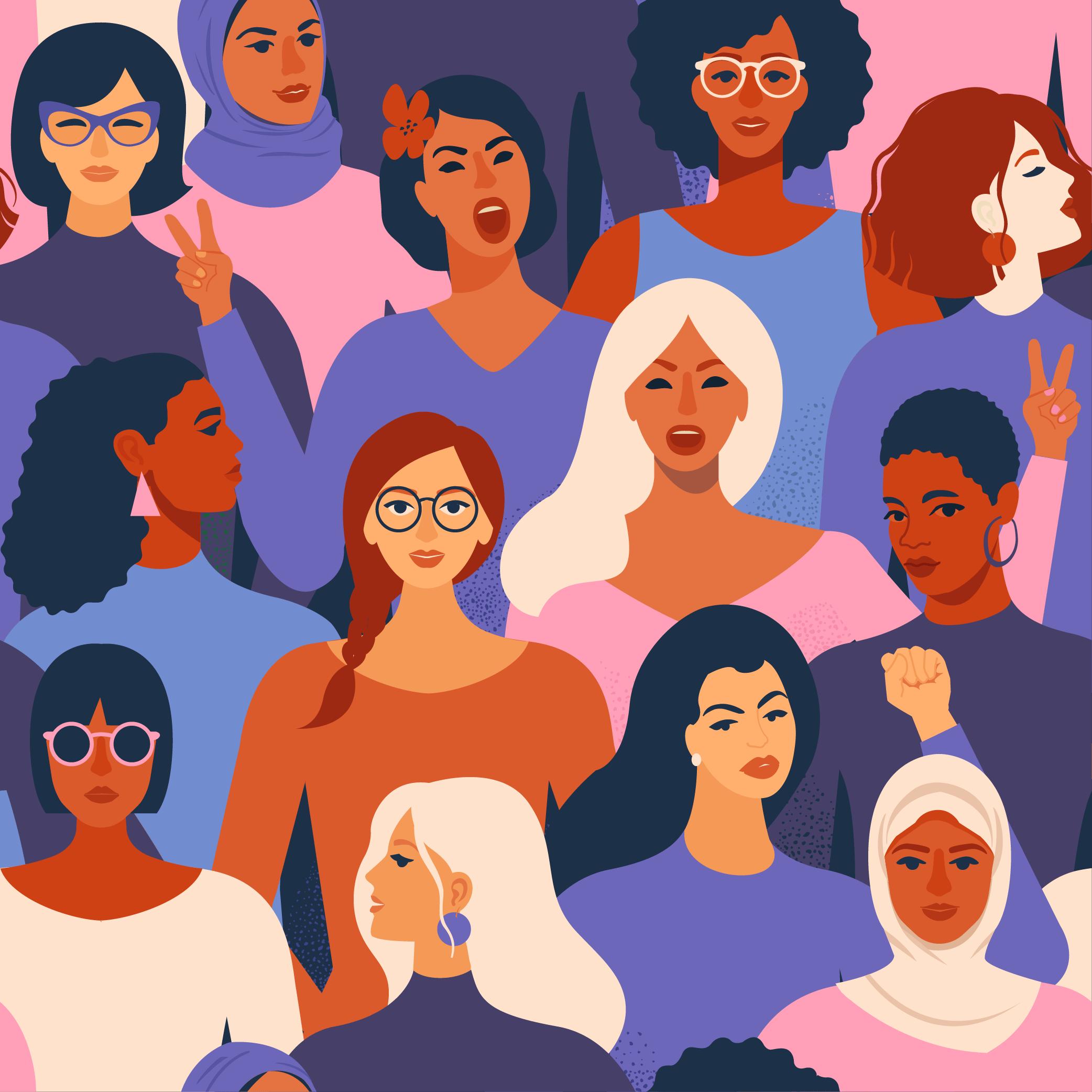 Illustration of diverse women