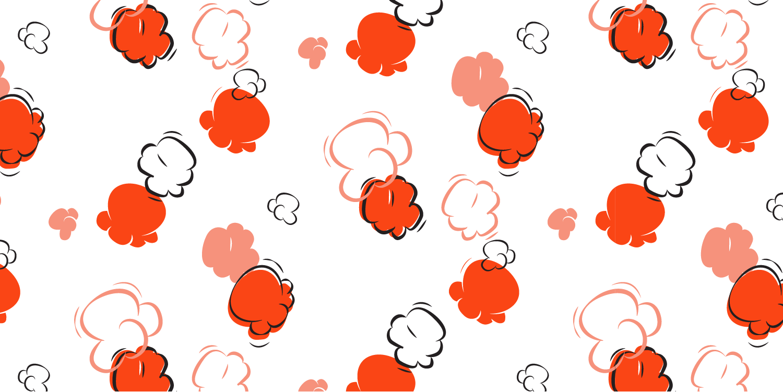 illustrated popcorn pattern
