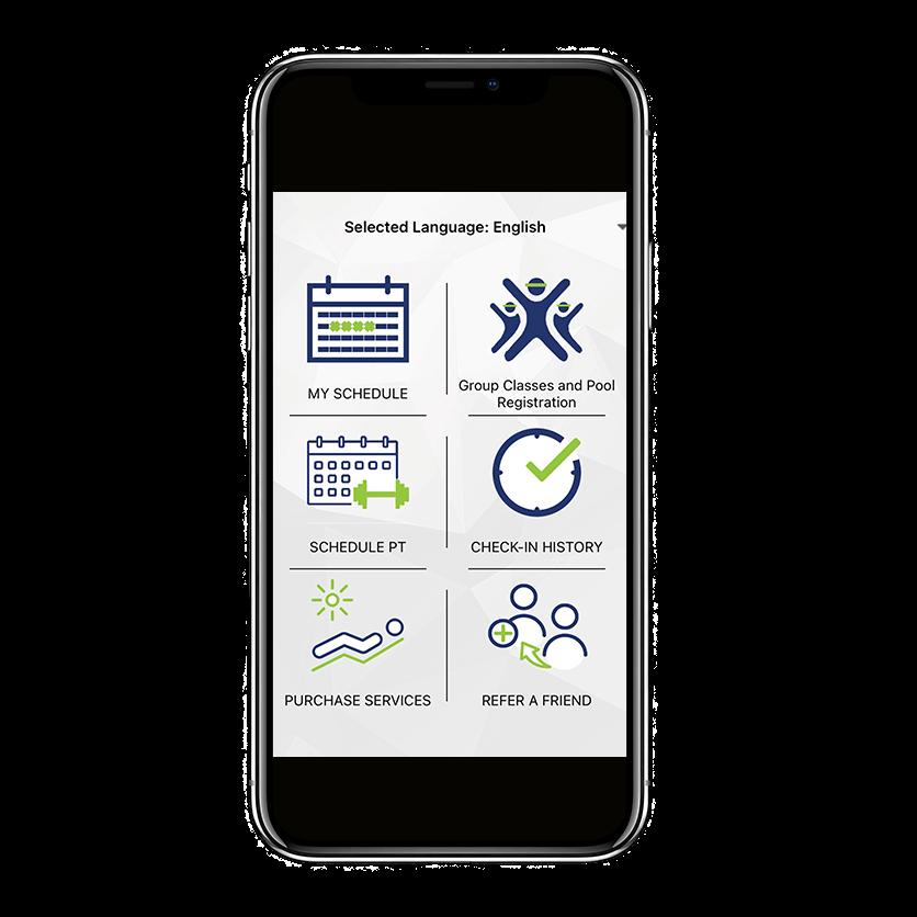 screenshot of fitness app