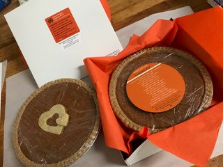 Sweet Potato comfort pie, ready for delivery
