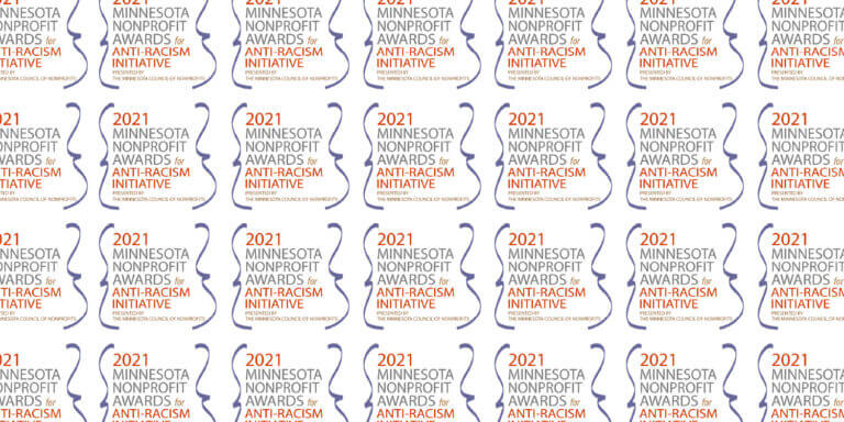 2021 Minnesota Nonprofit Awards from Anti-Racism Initiative logo repeated